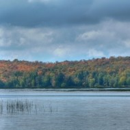 Autumn colors over Tupper Lake