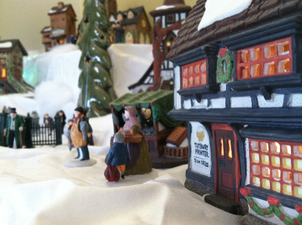 2011 Christmas village closeup