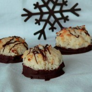 Chocolate Dipped Coconut Macaroons 2